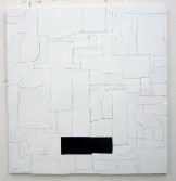 Florian Schmidt<br /> <i>Untitled(Immunity)</i>, 2011<br /> Acrylic gel, lacquer, vinyl, cardboard, wood<br /> 47.24 x 49.21 inches<br /> 120 x 125 cm <br />