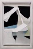 Florian Schmidt<br /> <i>Untitled(Presence)21</i>, 2011<br /> Acrylic gel, lacquer, vinyl, cardboard, wood<br /> 27.56 x 21.26 x 9.84 inches<br /> 70 x 54 x 25 cm