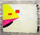 Phoebe Washburn<br /> <i>Solid Foundation</i>, 2012<br /> Mixed media on newspaper<br /> 21 3/4 x 24 inches<br /> 55.2 x 61 cm