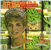 Buster Cleveland<br /> <i>ART FOR UM  Vol. 4 Issue 1 (Private Opening) [Diana with beans]</i> , 1993-1998<br /> Mixed media on foamcore<br /> 5.25 x 5.25 inches<br /> 13.3 x 13.3 cm