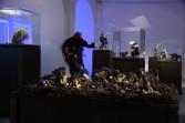 Nathalie Djurberg<br /> with music by Hans Berg<br /> <i>Snakes knows it's yoga</i>, 2010<br /> Installation view (detail), Kestner Gesellschaft<br /> Hannover, Germany