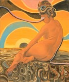 Anton Henning<br /> <i>Beauty in the Eye of the Beheld</i>, 2005<br /> Oil on linen<br /> 74 1/4 x 61 4/5 inches<br /> 188.7 x 157 cm<br />