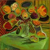 Anton Henning<br /> <i>Blumenstilleben No. 192</i>, 2004<br /> Oil on linen<br /> 31 x 31 inches<br /> 79 x 78.7 cm<br />