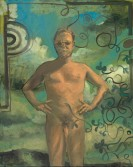 Anton Henning<br /> <i>Selbstportrait (Adam) 02.05.06</i>, 2006<br /> Oil on linen<br /> 61 9/10 x 49 3/5 inches<br /> 157.3 x 126 cm<br />