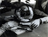 André Kertész<br /> <i>Fortune Teller</i>, 1930<br /> Gelatin silver print, printed c. 1930<br /> 7 1/8 x 9 1/2 inches<br /> 18.1 x 24.1 cm<br /> <br /> Frame: <br /> 20 x 16 inches<br /> 50.8 x 40.6 cm