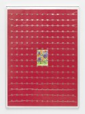 Brad Troemel<br /> <i>Jane Seymour 'Flowers 3', 2013 + 1938-2010 PDS JEFFERSON NICKEL COMPLETE SET WITH PROOF 207 COINS SUPER BU</i>, 2015<br /> Vacuum seal on reinforced panel with aluminum frame<br /> 66 1/2  x 48 inches<br /> 168.9 x 121.9 cm