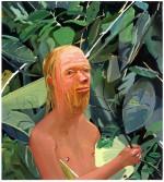 Dana Schutz<br /> <i>Frank as a Proboscis Monkey</i>, 2002<br /> Oil on canvas<br /> 36 x 32 inches<br /> 91.4 x 81.3 cm