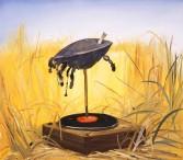 Dana Schutz<br /> <i>Kris' Rubber Soul</i>, 2001<br /> oil on canvas<br /> 42 1/8 x 47 1/4 inches<br /> 107 x 120 cm