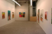 Dana Schutz<br /> <i>Frank From Observation</i>, 2002<br /> Installation view, Zach Feuer Gallery (LFL)