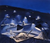 Dana Schutz<br /> <i>Night Sculpting</i>, 2001<br /> Oil on canvas<br /> 42 x 47 inches<br /> 106.7 x 119.4 cm