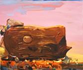 Dana Schutz<br /> <i>Skull</i>, 2002<br /> Oil on canvas<br /> 24 x 28 inches<br /> 61 x 71.1 cm
