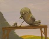 Dana Schutz<br /> <i>Untitled</i>, 2001<br /> Oil on canvas<br /> 21.5 x 17 inches<br /> 54.6 x 43.2 cm