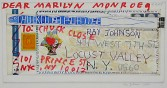 Ray Johnson<br /> <i>Untitled (Dear Marilyn Monroe, To: Chuck Close), 1980</i>, 8.12.94<br /> Collage on illustration board<br /> 9.5 x 14.5 inches<br /> 24.1 x 36.8 cm