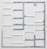 Florian Schmidt<br /> <i>Untitled(Passenger)01</i>, 2012<br /> Vinyl, lacquer, canvas and wood<br /> 72.83 x 70.87 inches<br /> 185 x 180 cm