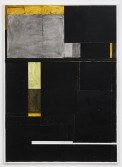 Florian Schmidt<br /> <i>Untitled(Hold)18</i>, 2012<br /> Vinyl, acrylic gel, lacquer, cardboard, canvas and wood<br /> 84.25 x 60.63 inches<br /> 214 x 154 cm