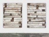 Marianne Vitale<br /> <i>Tongue and Groove</i>, 2010<br /> Reclaimed lumber<br /> Each:<br /> 65 x 48 x 5 inches<br /> 165.1 x 121.9 x 12.7 cm<br />