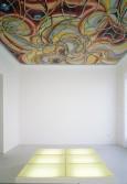 Anton Henning<br /> <i>Deckengemälde, 6 Mintrex</i>, 1999<br /> Installation view, Wohnmaschine<br /> Berlin, Germany