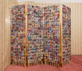Justin Lieberman<br /> <i>Baseball Card Collection Organized According to Personal Appearance with Honus Wagner T206 Placeholder</i> (detail), 2009<br /> Mixed media<br /> Collection: 72.5 x 72 x 13.5 inches  184.2 x 182.9 x 34.3 cm<br /> Placeholder: 17 x 21 inches  43.2 x 53.3 cm