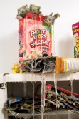 Justin Lieberman<br /> <i>Cereal Box Collection for Philip Travers with Fruit Brute Placeholder</i> (detail), 2008<br /> Mixed media<br /> Collection: 62 x 38 x 28 inches  157.5 x 96.5 x 71.1 cm<br /> Placeholder: 22 x 16 x 11 inches  55.9 x 40.6 x 27.9 cm
