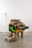 Justin Lieberman<br /> <i>Cthulu Rilyeh End Table</i>, 2007<br /> Mixed media<br /> 37 x 29 x 36.5 inches<br /> 94 x 73.7 x 92.7 cm