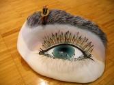 Johannes VanDerBeek<br /> <i>Eyeball</i>, 2004<br /> Mixed media<br /> 14 x 27 x 20 inches<br /> 35.6 x 68.6 x 50.8 cm