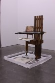 Jacques Vidal<br /> <i>FORCED FRIENDSHIP, WITH COLLABORATIVE BASE WITH KATE LEVANT AND 14 COLLABORATIVE DRAWINGS WITH NOEL ANDERSON, BEFORE KULTURE DROVE US APART</i>, 2009<br /> Wood, plastic, pipe, black caulking<br /> 61 x 53 x 50 inches<br /> 154.9 x 134.6 x 127 cm