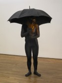 Johannes VanDerBeek<br /> <i>Seeing A Man Stand Under An Umbrella From A Distance</i>, 2007<br /> Fiberglass, hyrdacal, umbrella and acrylic paint<br /> 79 x 44.5 x 43 inches<br /> 200.7 x 113 x 109.2 cm