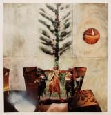 Johannes VanDerBeek<br /> <i>Untitled (Pot plant)</i>, 2007<br /> Mixed media<br /> 20 x 19 inches<br /> 50.8 x 48.3 cm