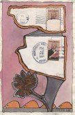 John Evans<br /> <i>February 16, 1984</i> , 1984<br /> Mixed media collage<br /> 8 x 5 inches<br /> 20.3 x 12.7 cm