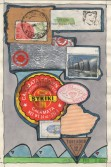 John Evans<br /> <i>February 3, 1984</i> , 1984<br /> Mixed media collage<br /> 8 x 5 inches<br /> 20.3 x 12.7 cm