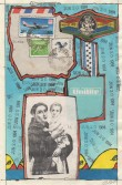 John Evans<br /> <i>June 20, 1984</i> , 1984<br /> Mixed media collage<br /> 8 x 5 inches<br /> 20.3 x 12.7 cm