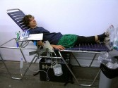 <i>Blood Drive: Compromised by Kate Levant</i>, 2009<br /> Installation view, Zach Feuer Gallery