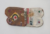 Kristen Morgin<br /> <i>(Butterfly)</i>, 2014<br /> Unfired clay, paint, roofing tacks, ink, graphite, crayon, wire, marker<br /> 5 x 11.5 x 1 inches<br /> 12.7 x 29.2 x 2.5 cm