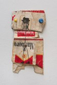 Kristen Morgin<br /> <i>Marlboro Man</i>, 2013<br /> Unfired clay, paint, wire, marker, ink<br /> 6 x 3 x 0.5 inches<br /> 15.2 x 7.6 x 1.3 cm