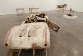 Kristen Morgin<br /> <i>New York Be Nice</i>, 2010<br /> Zach Feuer Gallery, New York, NY<br /> Installation view<br />