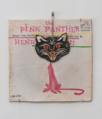 Kristen Morgin<br /> <i>(Pink Panther)</i>, 2013<br /> Unfired clay, paint, string, wire, graphite, crayon<br /> 13 x 12.25 x 0.5 inches<br /> 33 x 31.1 x 1.3 cm