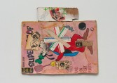 Kristen Morgin<br /> <i>Snidely and Asterix Bones</i>, 2014<br /> Unfired clay, roofing tacks, pushpin, paint, ink, graphite, marker<br /> 9 x 10 x 1/2 in<br /> 22.9 x 25.4 x 1.3 cm