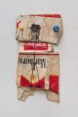 Kristen Morgin<br /> <i>Marlboro Man</i>, 2013<br /> Unfired clay, paint, wire, marker, ink<br /> 6 x 3 x 1/2 in<br /> 15.2 x 7.6 x 1.3 cm