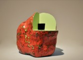 Ken Price<br /> <i>Green Heat</i>, 1988<br /> Acrylic on fired ceramic<br /> 11 x 14 x 10 inches<br /> 27.9 x 35.6 x 25.4 cm