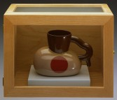 Ken Price<br /> <i>Mildred</i>, 1991<br /> Slip cast glazed earthenware<br /> 4 1/4 x 6 x 3 inches<br /> 10.8 x 15.2 x 7.6 cm