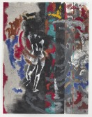 Kianja Strobert<br /> <i>Marathon (Panel 3)</i>, 2012<br /> Mixed media on paper<br /> 50 x 38 inches<br /> 127 x 96.5 cm