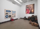 Mark Flood<br /> <i>Available NASDAQ Symbol</i>, 2014<br /> Installation view, Zach Feuer Gallery