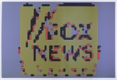 Mark Flood<br /> <i>FOX NEWS 45A</i>, 2014<br /> Inkjet print on canvas<br /> 74 x 110 inches<br /> 188 x 279.4 cm<br /> <br /> Booth 2.15