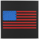 Mark Flood<br /> <i>Heating Element Flag</i>, 2014<br /> Inkjet print on canvas<br /> 48 x 48 inches<br /> 121.9 x 121.9 cm