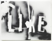 Mark Flood<br /> <i>Irregular Like</i>, 2014<br /> Spray paint on canvas<br /> 22 x 28 x 3/4 inches<br /> 55.9 x 71.1 x 1.9 cm<br /> <br /> Booth 2.14