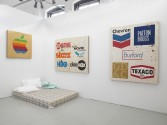 Mark Flood<br /> <i>The Insider Art Fair</i>, 2014<br /> Installation view, Zach Feuer Gallery