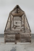 Marianne Vitale<br /> <i>Barn (1)</i>, 2010<br /> Reclaimed Lumber<br /> 72 x 96 x 108 inches<br /> 182.9 x 243.8 x 274.3 cm