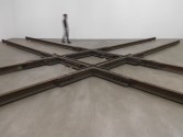 Marianne Vitale<br /> <i>Diamond Crossing</i>, 2013<br /> Manganese steel<br /> Dimensions variable