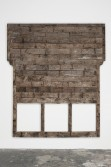 Marianne Vitale<br /> <i>False Front 3</i>, 2011<br /> Reclaimed lumber<br /> 124 x 86 x 4.5 inches<br /> 315 x 218.4 x 11.4 cm
