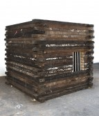 Marianne Vitale<br /> <i>Jail</i>, 2011<br /> Reclaimed lumber<br /> 72 x 72 x 72 inches<br /> 182.9 x 182.9 x 182.9 cm